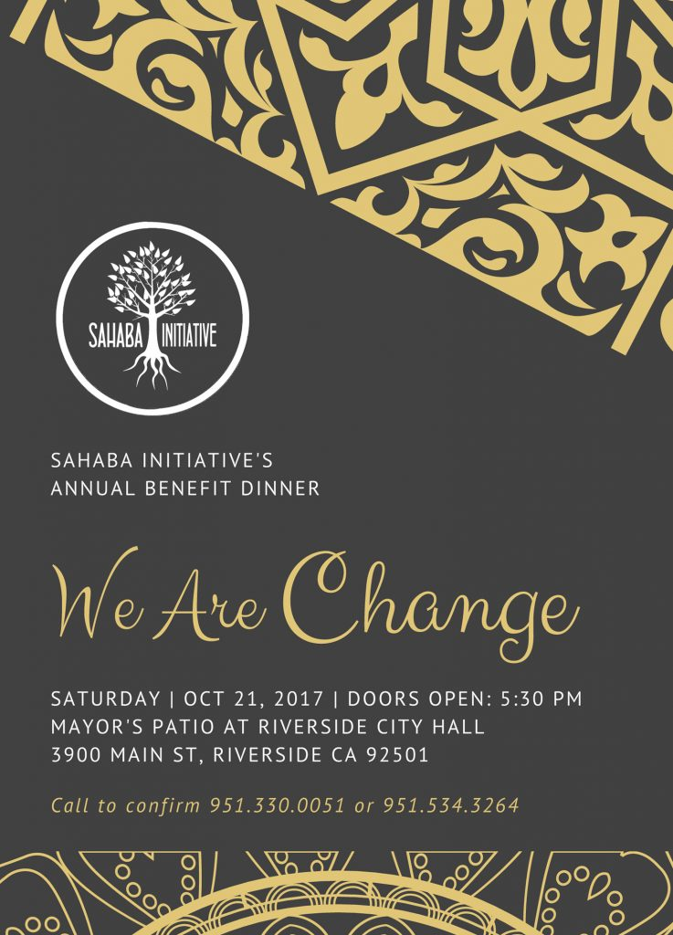 We Are Change – Invitation Front