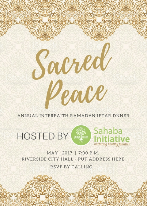 Sacred Peace Dinner – Invitation