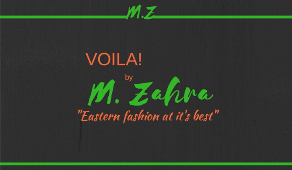 Voila By M.Zahra Business Card -Back