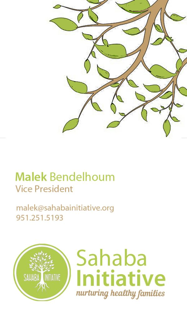 Sahaba Initiative – Business Card Front
