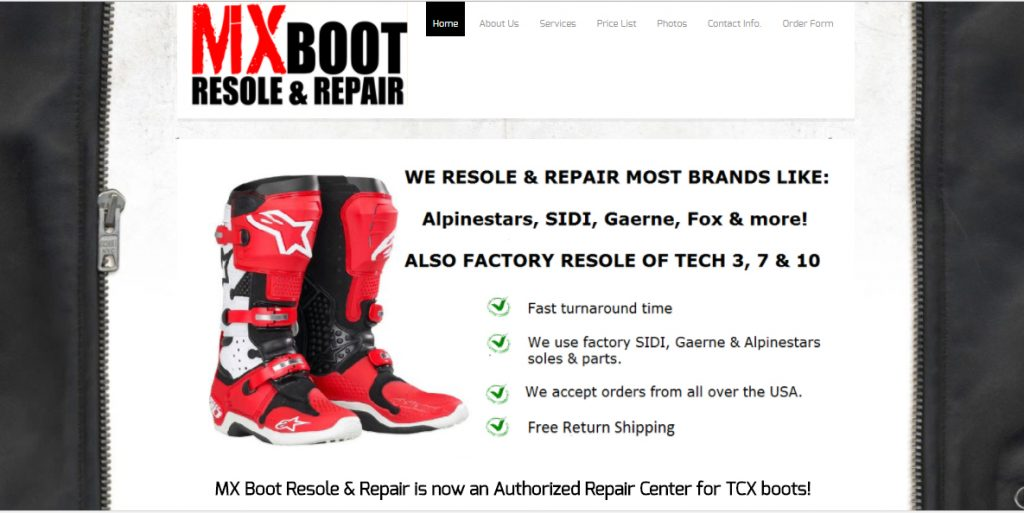 MX Boot Resole & Repair